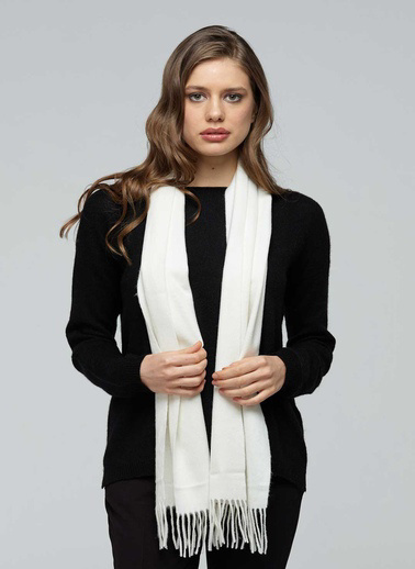 Silk and Cashmere Atkı Beyaz